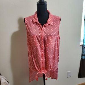 French laundry button up tank